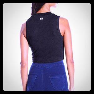 Billabong Tops - Billabong black High Neck Knit Ripped crop top M